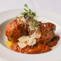 Meatballs with parmesan and marinara