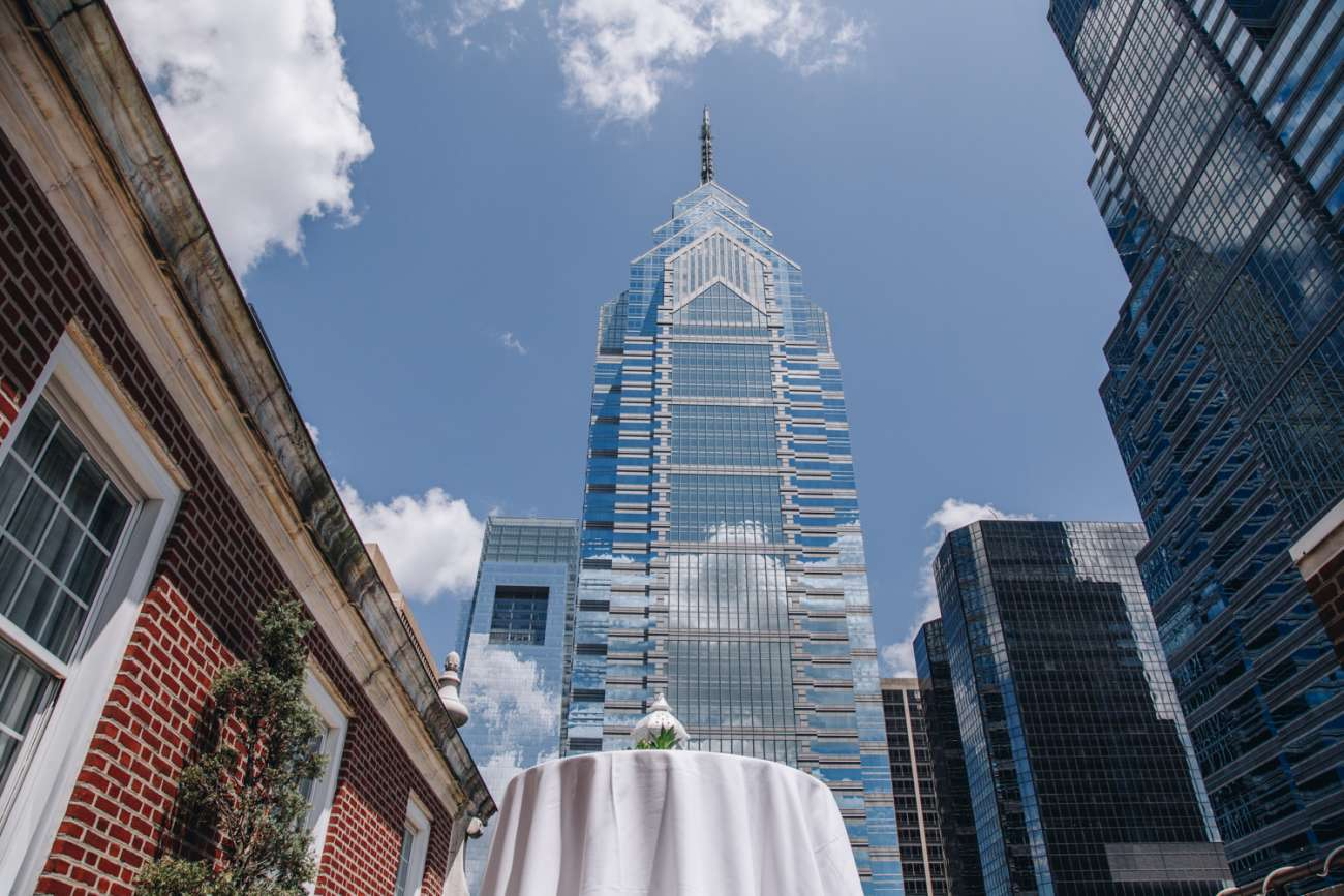 View of One Liberty Place from the Skyline Patio